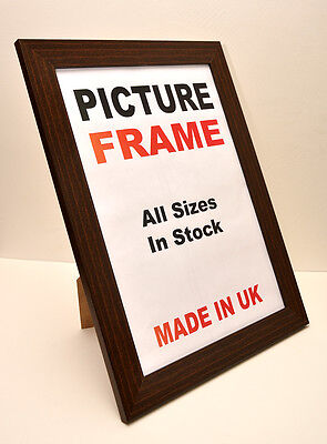 Large Mahogany Brown Picture Photo frame 40 mm wide in All Sizes Picture Frame