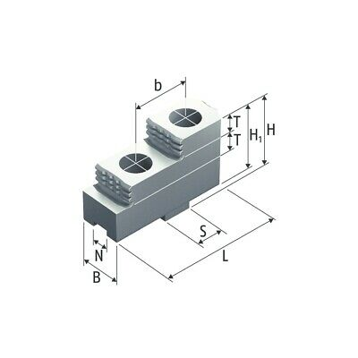 HARD TONGUE & GROOVE stepped TOP JAWS ( 3 PC SET ) SHF-250-S SCHUNK 2