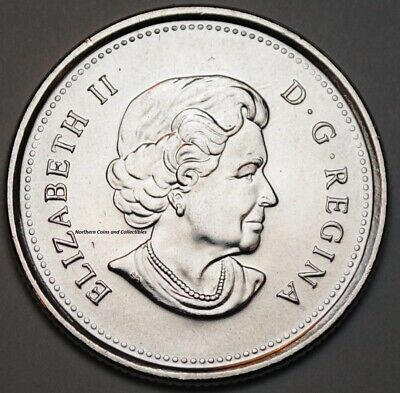 Canada 2010 Poppy 25 cents Nice UNC from roll - BU Canadian Quarter 2