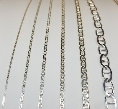 """ITALY 925 SOLID Sterling Silver MARINER Chain Necklace or Bracelet  7"""" - 36"""" 2"""