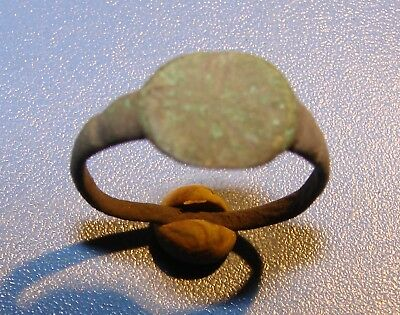 Ancient bronze  ring  Middle Ages. Оriginal. 2