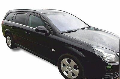 02-08 4pc Heko Wind Deflectors Tinted Acrylic for Vauxhall Vectra C Estate
