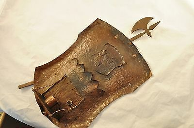 Vintage Arts and Crafts Hammered Copper Wall Sconce 2