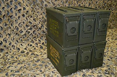 ( 6 PACK ) NEW MILITARY 7.62 / 30 Cal M19A1 AMMO CAN ** FREE SHIPPING** 2