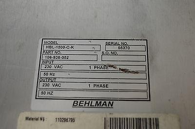 Behlman UPS - Unterbrecherfreie Stromversorgung (Uninterruptible Power Supplies) 4