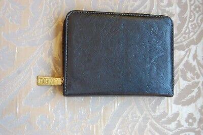 Vintage Dkny Donna Karen Black Leather Planner Address Book Cover 2