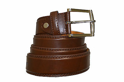"""Belt Mens Jeans Brown  All Sizes 30""""-60""""  Genuine Leather Stylish Casual Belt 4"""
