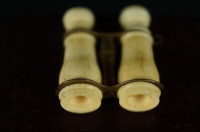 """Carved binoculars miniature ca. 19C. 1"""" Adell Venus collection [Y8-W6-A8-E9] 4"""
