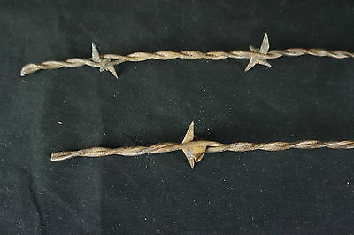 """Nice Antique Two Barbed Wire Fragments 21"""" [Y7-W2-A8-E8] 7"""