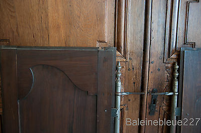 Set 2 French Antique Carved Louis XV Style Architectural Panel Door Solid Walnut 6