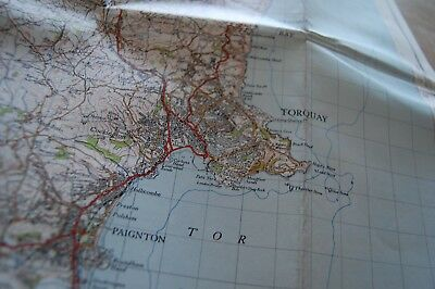 Vintage 1946 'Torquay Ordnance Survey One Inch Map/Poster on Cloth 5