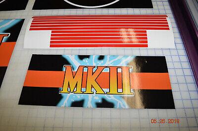 Arcade1up Cabinet Riser Graphics - Mortal Kombat 2 II Graphic Sticker Decal Set 6