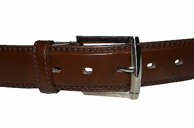 """Belt Mens Jeans Brown  All Sizes 30""""-60""""  Genuine Leather Stylish Casual Belt 3"""
