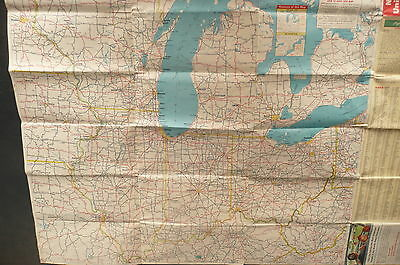 1953 NORTHEAST UNITED States road map Esso gas oil adjacent ...