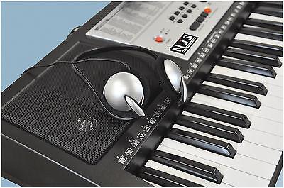 NJS 61 Key Full Size Electronic Keyboard, Sheet Music Stand, Headphones, Stool 7