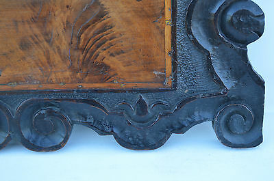 French Antique Gothic Hand Carved Walnut Wooden Pediment - Blazon 17th.c 5 • CAD $437.72