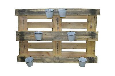 3X Pflanztopf mit Halter für Europalette Balkon usw Metall 12X10 cm Blumentopf