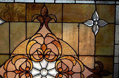 Large Antique Stained Glass Window Vibrant Colors Beveled  Glass 2 Available 6