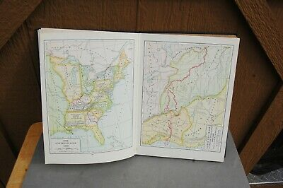 Harpers Atlas American History HC 1920 Dixon Ryan Fox Rare Maps Color 168 pg 7