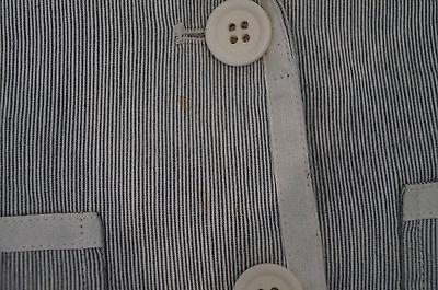 BONPOINT Baby Toddler Grey & Cream Cotton Linen Striped Formal Blazer Jacket 3Y 8