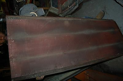 Antique Tin Ceiling , Wainscote? 2 X 5 Ribbed  Tin-Sign Board- 50 Available