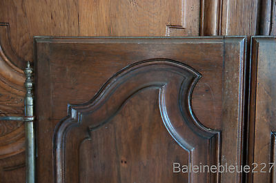 Set 2 French Antique Carved Louis XV Style Architectural Panel Door Solid Walnut 2