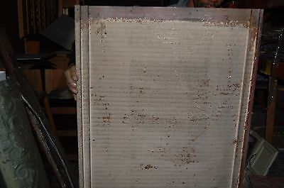 Antique Tin Ceiling , Wainscote? 2 X 5 Ribbed  Tin-Sign Board- 50 Available 2