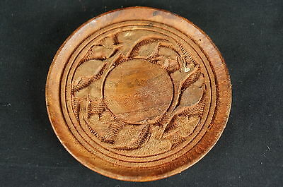 "Great Unusual vintage chinese carved wood stand 3 3/4"" [Y7-W6-A9-E8] 2"