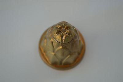 Original antique pressed brass furniture mount light lamp part fitting T19