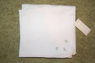 Snuggle Baby Acrylic Embroidered Shawl with Satin Edge