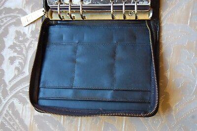 Vintage Dkny Donna Karen Black Leather Planner Address Book Cover 4