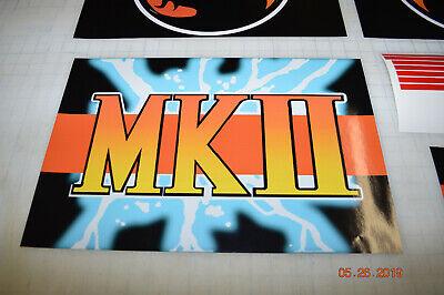 Arcade1up Cabinet Riser Graphics - Mortal Kombat 2 II Graphic Sticker Decal Set 5