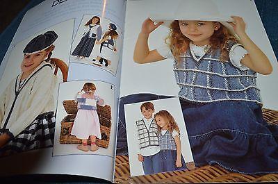 18 Irrestible Designs for Children in Denim Tweed DK Kids in Denim Sirdar Knitting Pattern Book #259