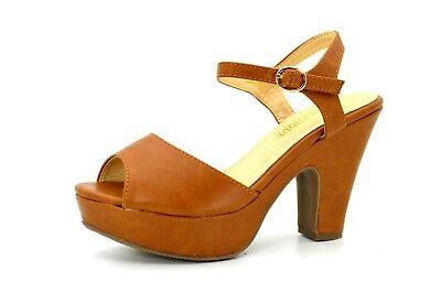 912cde42c086a ... Scarpe donna sandali con tacco basso comodo e plateau decolte estive  decolletè 9