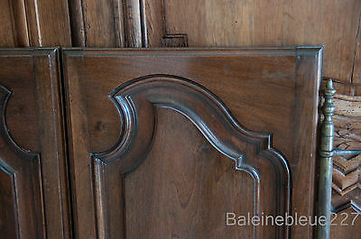 Set 2 French Antique Carved Louis XV Style Architectural Panel Door Solid Walnut 3