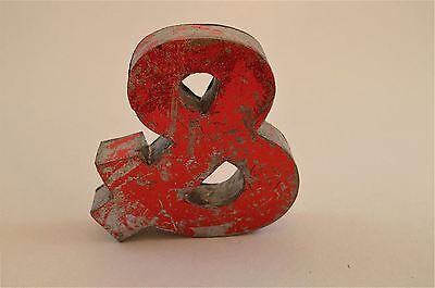 Fantastic Retro Vintage Style Red 3D Metal Shop Sign Ampersand & Font Symbol 3