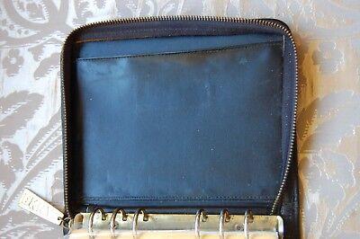 Vintage Dkny Donna Karen Black Leather Planner Address Book Cover 5