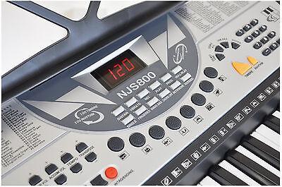 NJS 61 Key Full Size Electronic Keyboard, Sheet Music Stand, Headphones, Stool 5