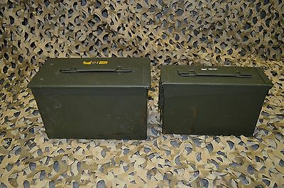 ( 2 Pack ) Combo 50 Cal/308 Cal AMMO CAN VERY GOOD CONDITION  * FREE SHIPPING*