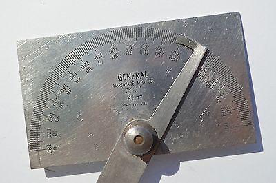 Fine Vintage General Hardware Mfg. Co. #17 Machinist Protractor Gauge 3