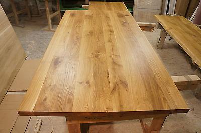 tischplatte massivholzplatte podest eiche rustikal 40mm fertig farblos ge lt eur 132 80. Black Bedroom Furniture Sets. Home Design Ideas
