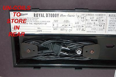D7000 Zenith Transoceanic Power Supply Cord For Any Royal D7000 Radio 5
