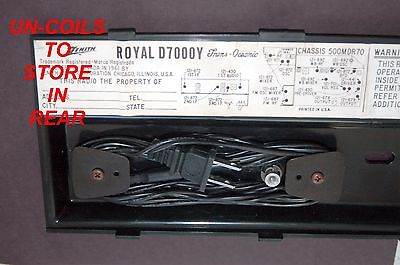 Power Supply Cord For Any Zenith Royal D7000 Transoceanic Radio / Free Shipping 5