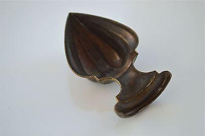Original antique pressed brass furniture mount mirror cartouche emblem T15
