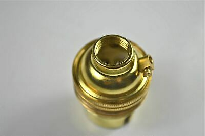 Brass Bayonet Fitting Bulb Holder Lamp Holder Earthed C/W Shade Ring 1/2 Inch L3 2