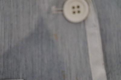 BONPOINT Baby Toddler Grey & Cream Cotton Linen Striped Formal Blazer Jacket 3Y 7