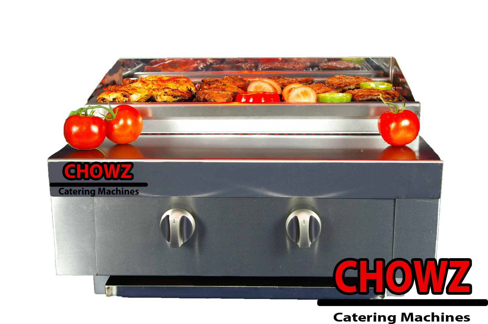2 Burner Gas Charcoal Bbq Grill / Char-Grill Heavy Duty For Commercial Use 2