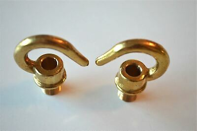 Pair Brass Bulb Holder Lampholder Screw In 10Mm Hook Chain Light Hook Ceiling G1 2
