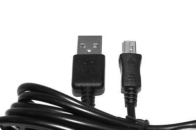 2m USB Black Charger Power Cable for Logitech Harmony 510 Remote Control