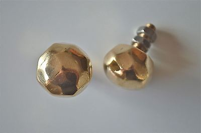 A pair of superb quality faceted brass furniture knobs handles chest knob 2008 2